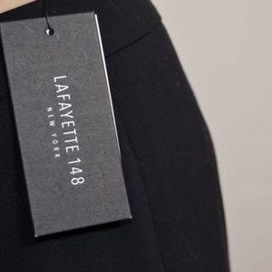 Lafayette 148 New York Black Stretch-wool Pants